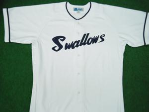 1955~59年の国鉄スワローズ・ホームユニフォームシャツ
