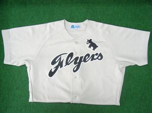 1949年の東急フライヤーズ・ビジターユニフォームシャツ