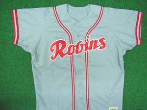 1949年の大陽ロビンス ビジターユニフォームシャツ
