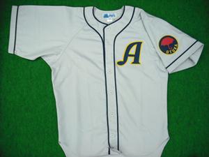 1947年の国民野球連盟の大塚アスレチックスユニフォームシャツ