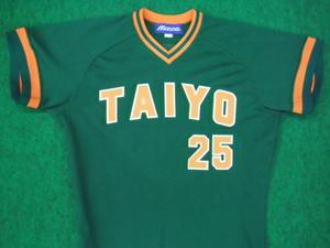 1974~77年の大洋ホエールズ ビジターユニフォームシャツ
